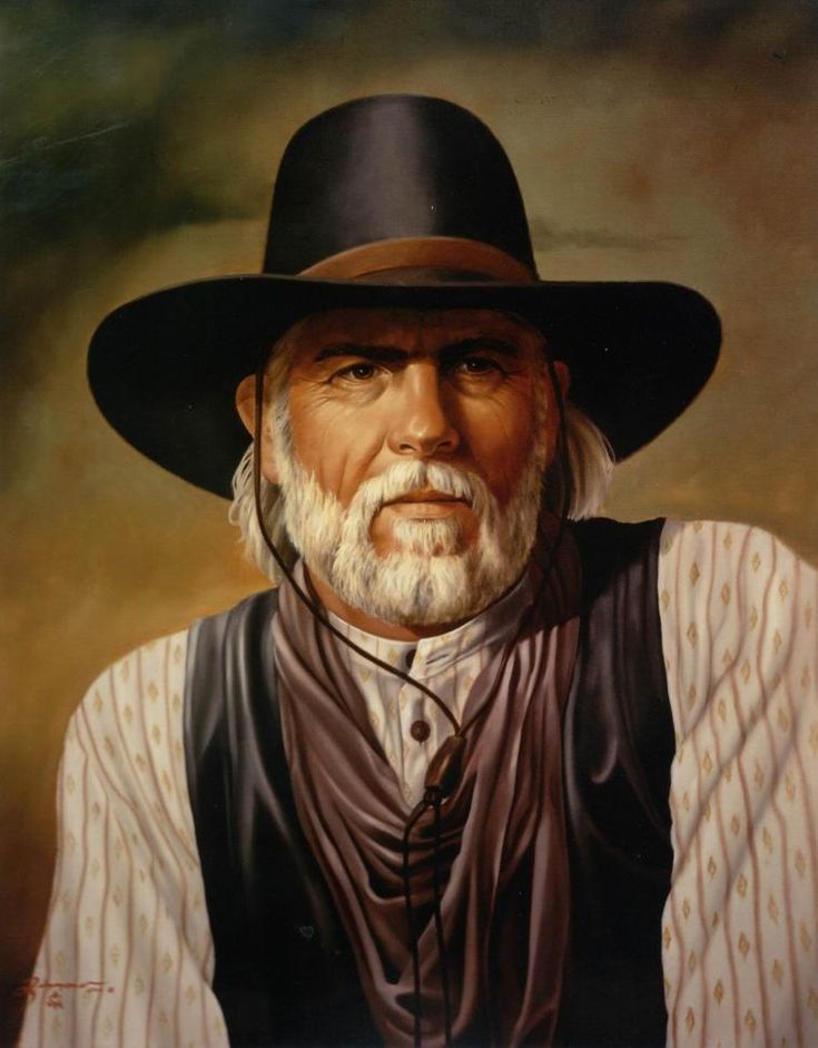 """""""Woodrow"""" Lonesome Dove -2- Western Art Oil Portrait Painting - Rick Timmons"""