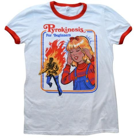 """Psychokenisis for Beginners"" Ringer Tee by Wicked Clothing"