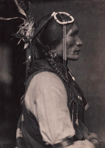 Iron White Man, Sioux Indian, circa 1898. Photographed by Gertrude Kasebier.