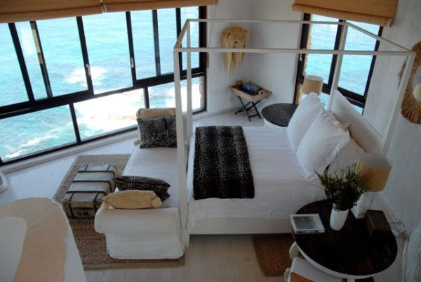 The view alone is gorgeous from this bedroom. I don't think I would ever leave.