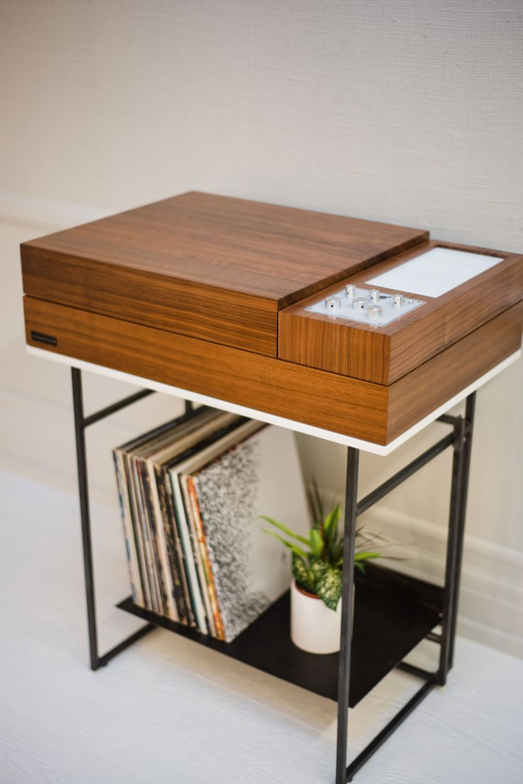 The Wrensilva Loft hi-fi record console system ties together mid-century style with this century's wireless streaming technology.