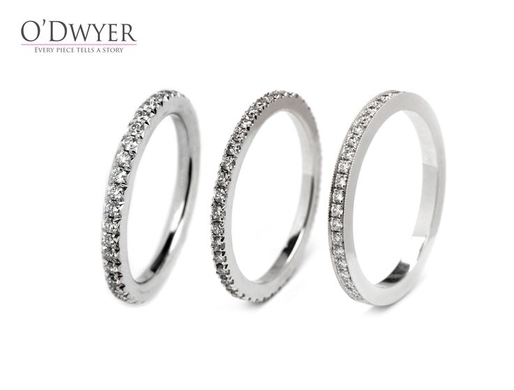 Wedding bands - Alliansringar  18ct white gold ring with diamonds, engagements rings, from Michael O´Dwyer Goldsmith.   18K vitguldsring med diamanter, förlovningsringar från Michael O´Dwyer Goldsmith.