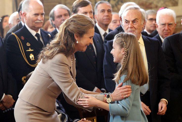 Infanta Elena and Princess Leonor