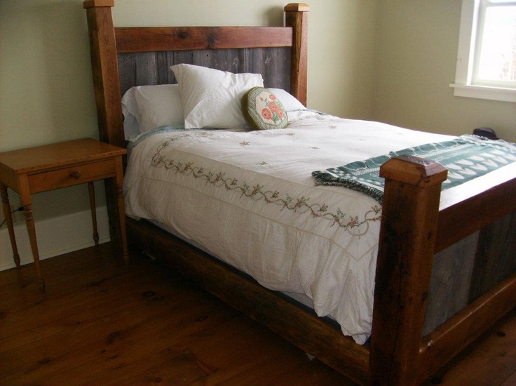 Reclaimed Barn Board And Beam Bed