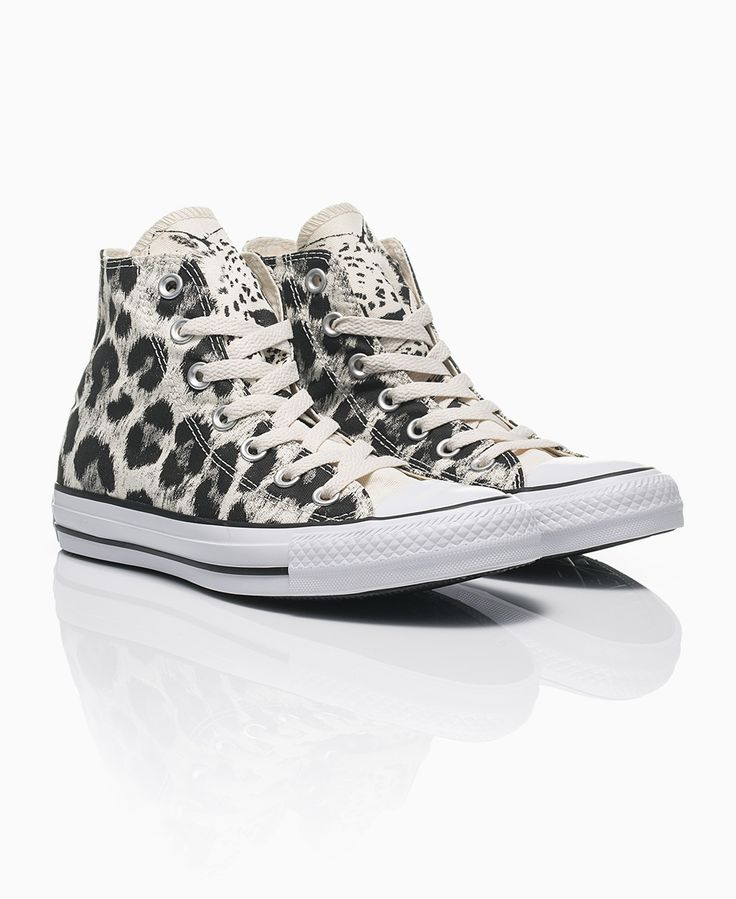 Converse - Animal Print All Star Hi Trainers - Leopard - Shoes & Trainers - Womens