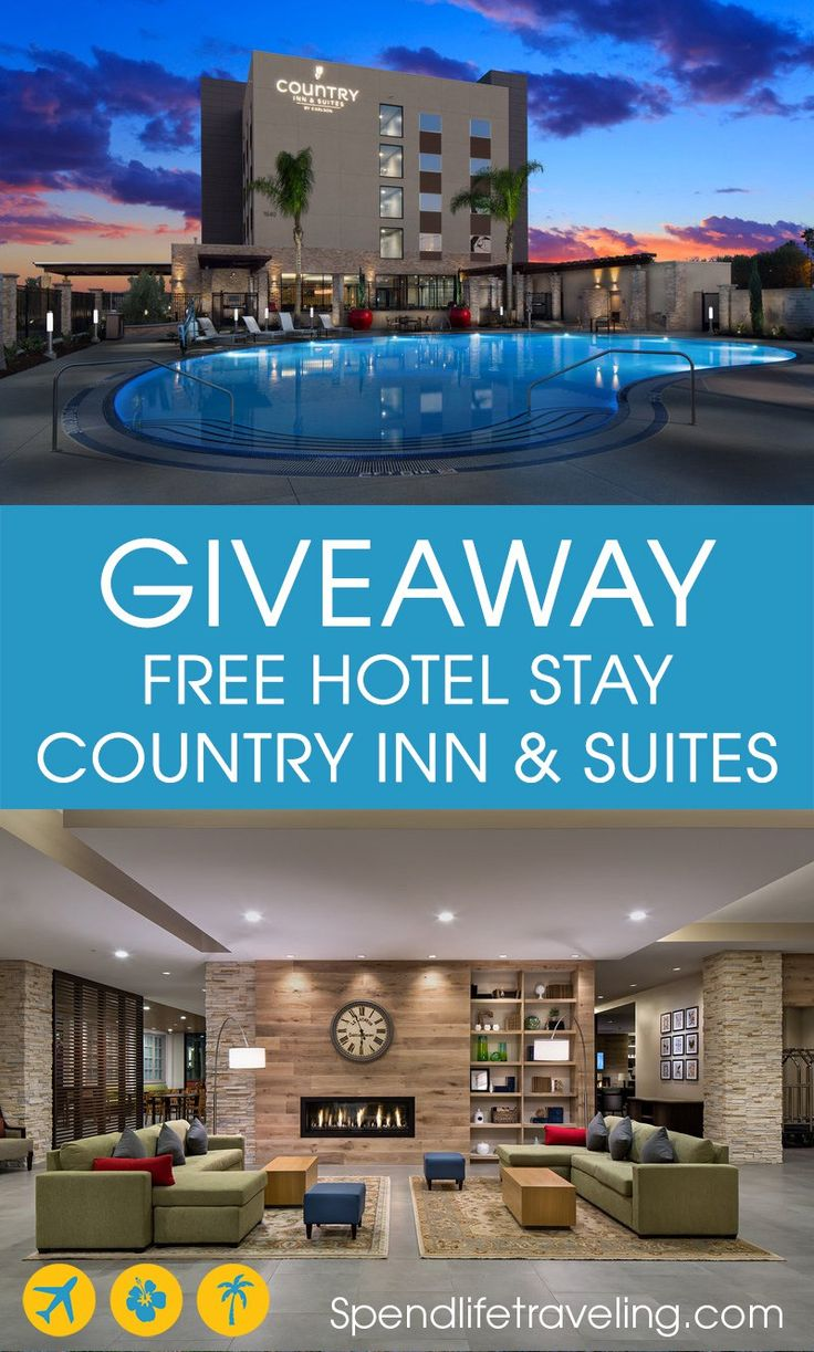 Win a free hotel stay at any of the 470+ Country Inn & Suites hotels worldwide