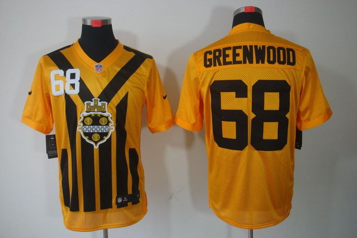 47252c00f8a ... Black With Yellow Elite Jersey Mens Pittsburgh Steelers 68 L.C.  Greenwood 1933 Yellow Throwback Jersey NFL Pittsburgh Steelers Elite Jerseys  Pinterest ...