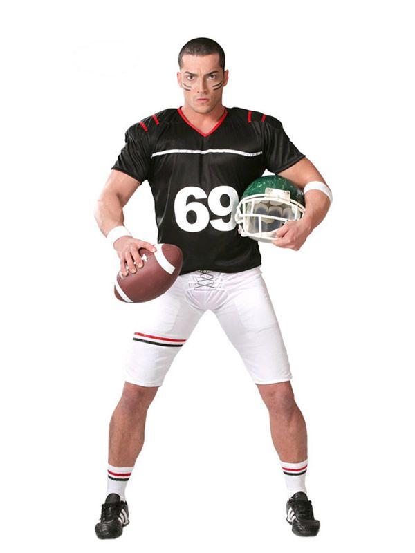 El disfraz de rugby quarterback hombre, incluye Camiseta, pantalón y hombreras en DisfracesMimo.com