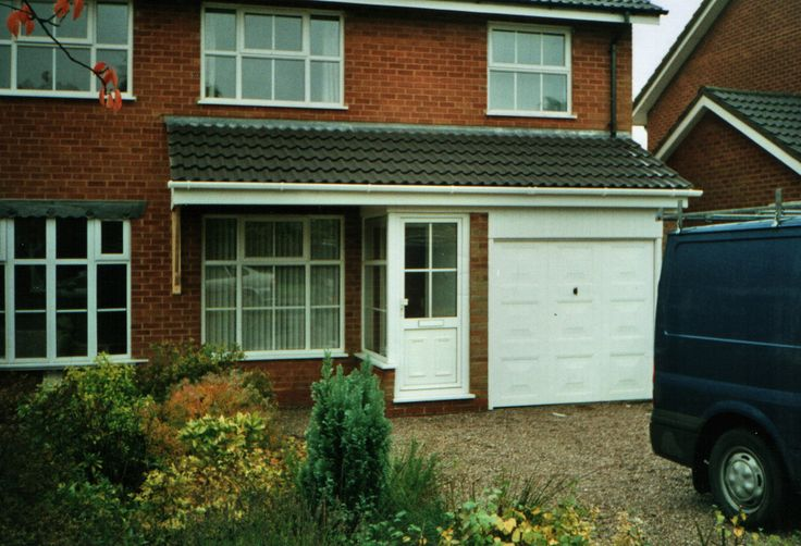 The above two pictures show  the before and after shots of a pitched roof across the house frontage. Description from classic-carpentry.co.uk. I searched for this on bing.com/images
