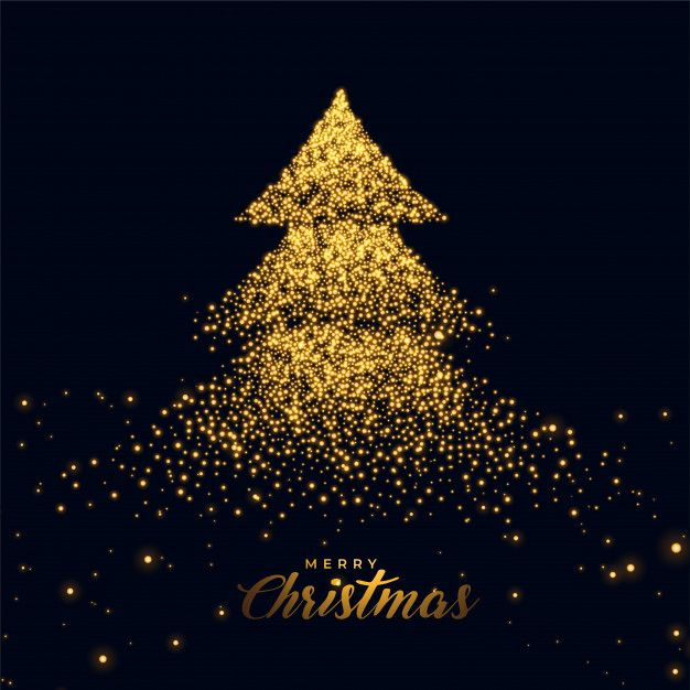 Download Christmas Tree Made With Golden Sparkles For Free Christmas Pictures Christmas Images Christmas Wallpaper