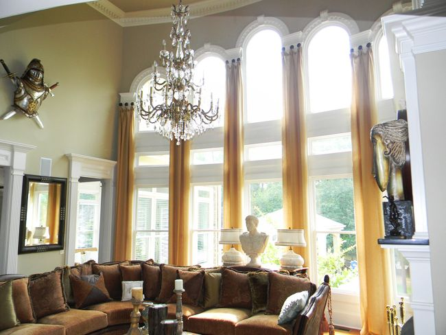 Two story window treatments for arched windows window for 2 story window treatments