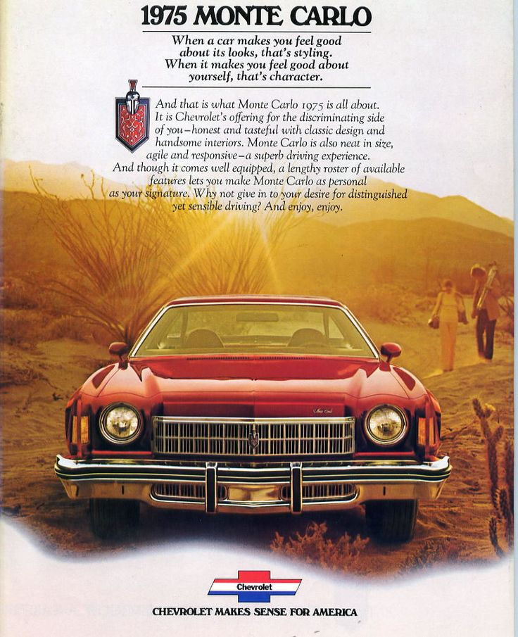 ad 1975 Monte Carlo...: Cars S, Cars Cars Cars, Chevrolet Monte, Luxury Cars, Awe Om Cars, Cars Ads, 1975 Chevrolet, Second Cars
