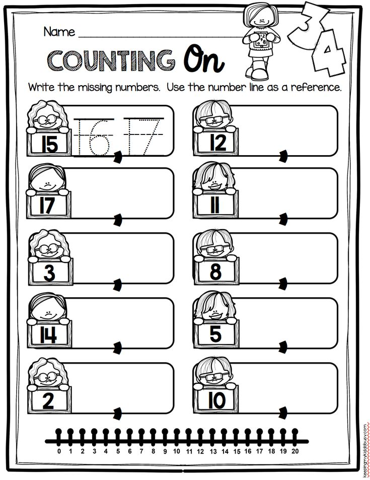 COUNTING ON worksheets - kindergarten counting and cardinality unit with FREEBIES