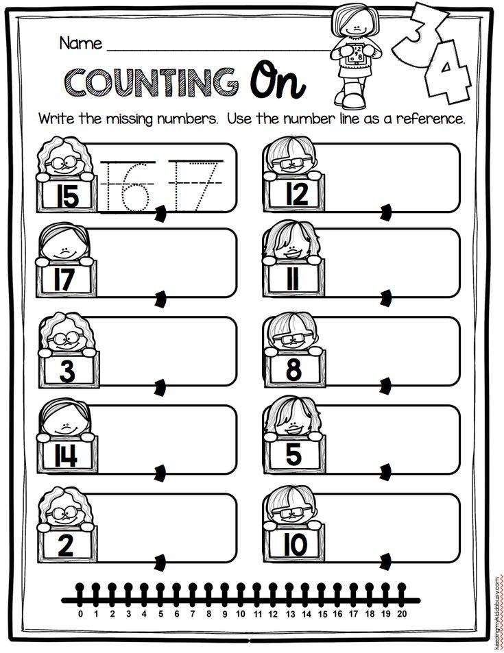 Number Line Worksheets number line worksheets kindergarten 426 best Kindergarten Math images on Pinterest | Kindergarten ...