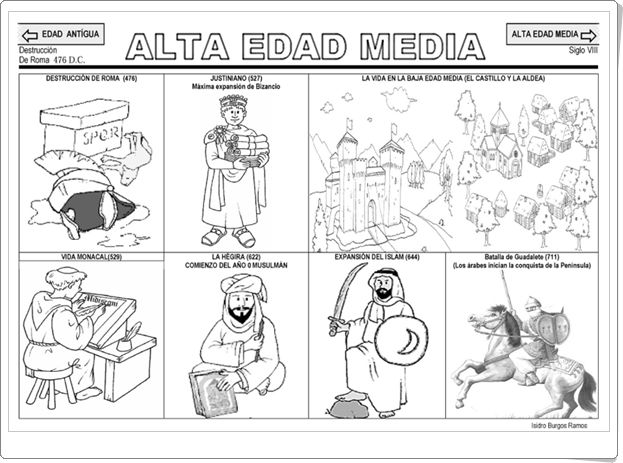 """""""La Edad Media"""" (Fichas de Historia de Primaria)"""