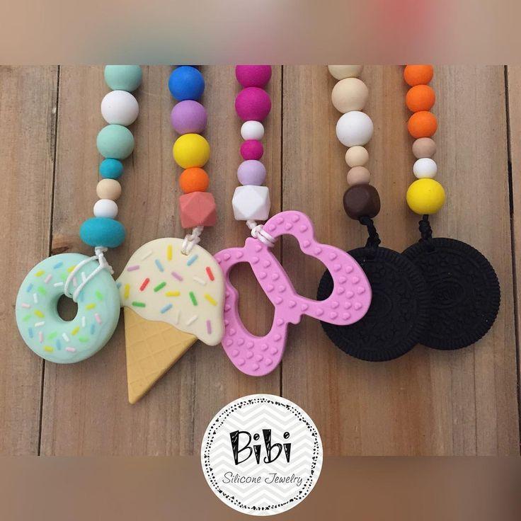 #springtime again! ��☀️�� #igioielliperlemammeadattiaibambini #siliconejewellery #percorsicreativi #jewelry #bibiepupi #bpafree #teethertoy #dentizione #collanaallattamento #biscotti #oreo #farfalla #butterfly #donuts #ciambella #icecream #gelato #instamamme #mamma #newborn #neonati #kids #mammecreative #fashionmoms http://www.butimag.com/mamma/post/1481527551549378796_3028836890/?code=BSPcXVrDhDs