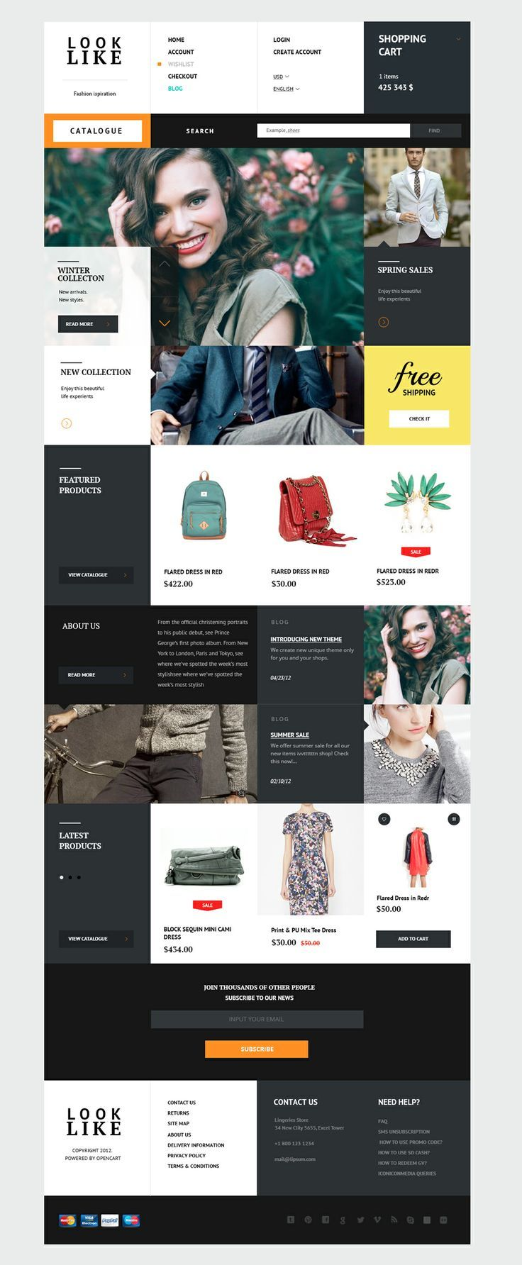 Looklike - Flat Premium Responsive Magento theme #webdesign #web #website #fashion #design