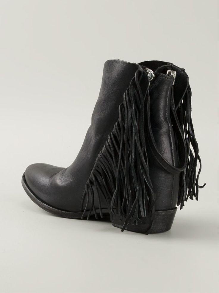 Cinzia Araia Fringed Ankle Boots - Iil7 - Farfetch.com