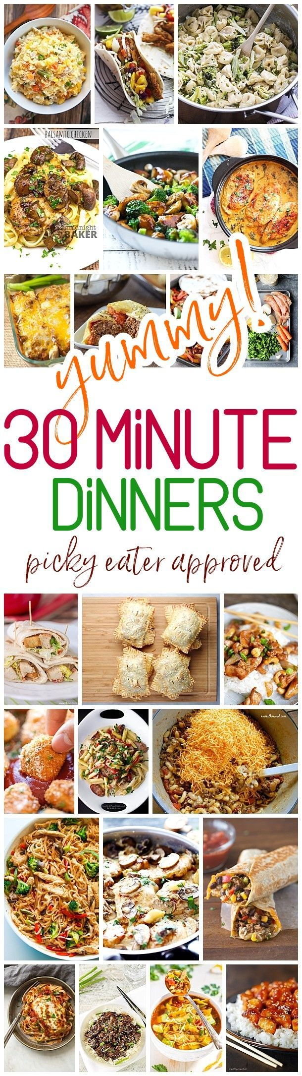 Yummy 30 Minute Family Dinners Recipes - Easy, Quick and Delicious Family Friendly Lunch and Dinner Menu Fast Ideas - Dreaming in DIY #30minutemeals #30minutedinners #easyrecipes #fastrecipes #quickdinners #mealprepping