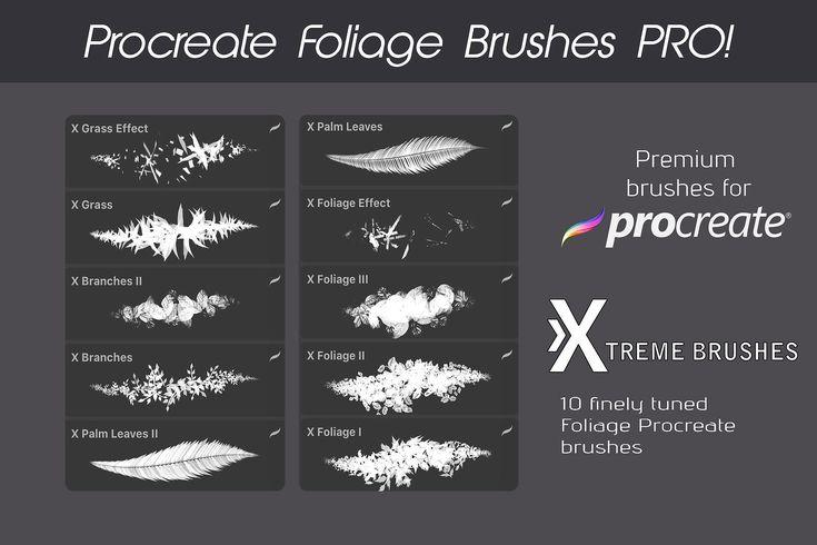 Procreate Nature Bundle Procreate Apple Pencil Procreate Procreate Brushes