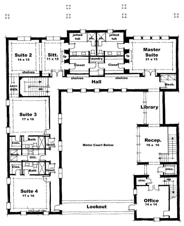 Darien castle plans arkitektur uge 15 16 for Castle home floor plans