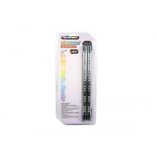 """Pipedream 9"""" LED Twin Rods Multi Color built in memory chip"""