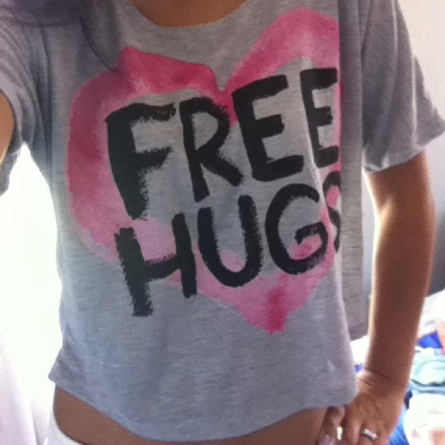 Free hugs shirt from Delia's. <3 let's see how many hugs I can get!