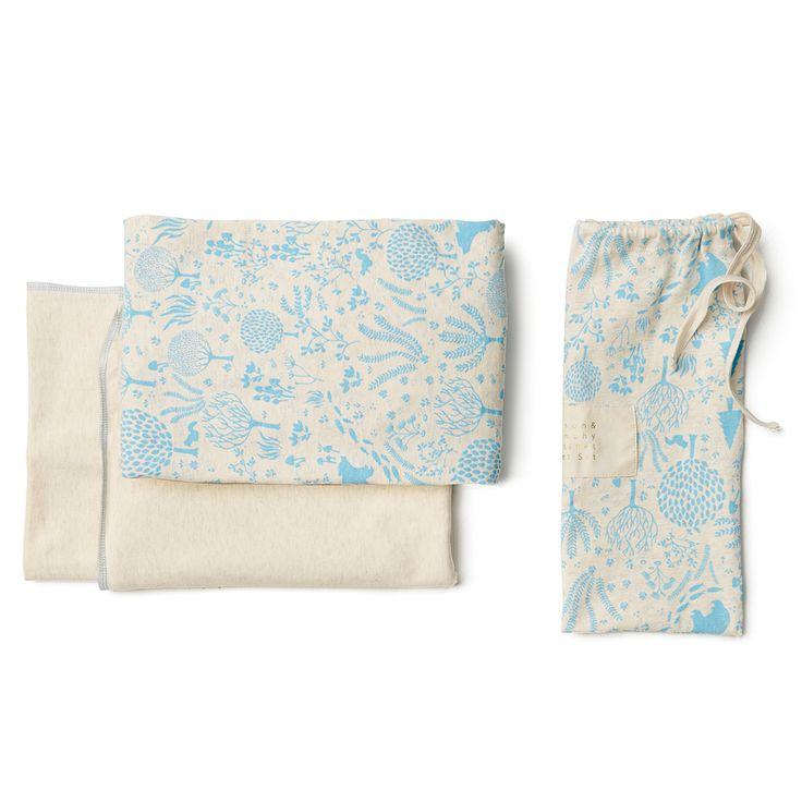 Blue woodlands | bassinet sheet set | wilson and frenchy