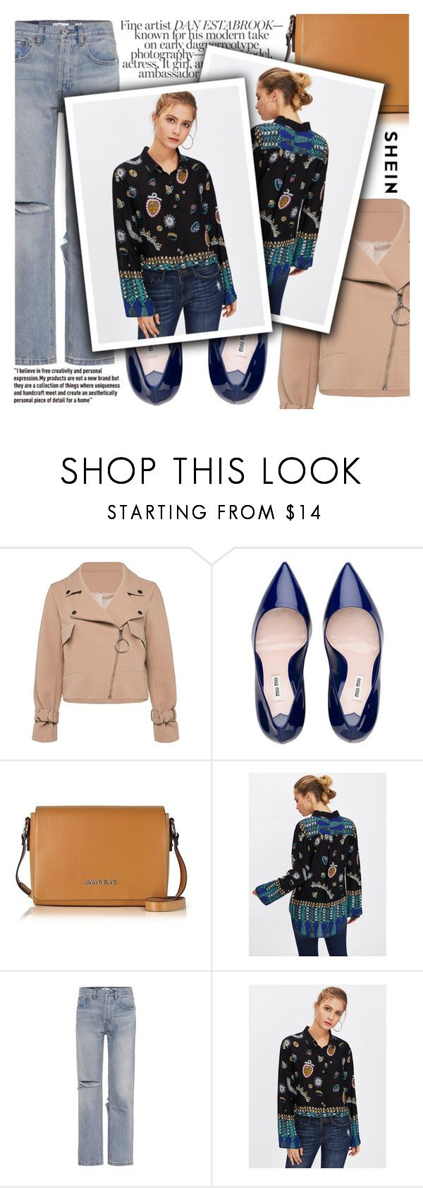 """""""Multicolour"""" by arrow1067 ❤ liked on Polyvore featuring Armani Jeans, RE/DONE and shein"""