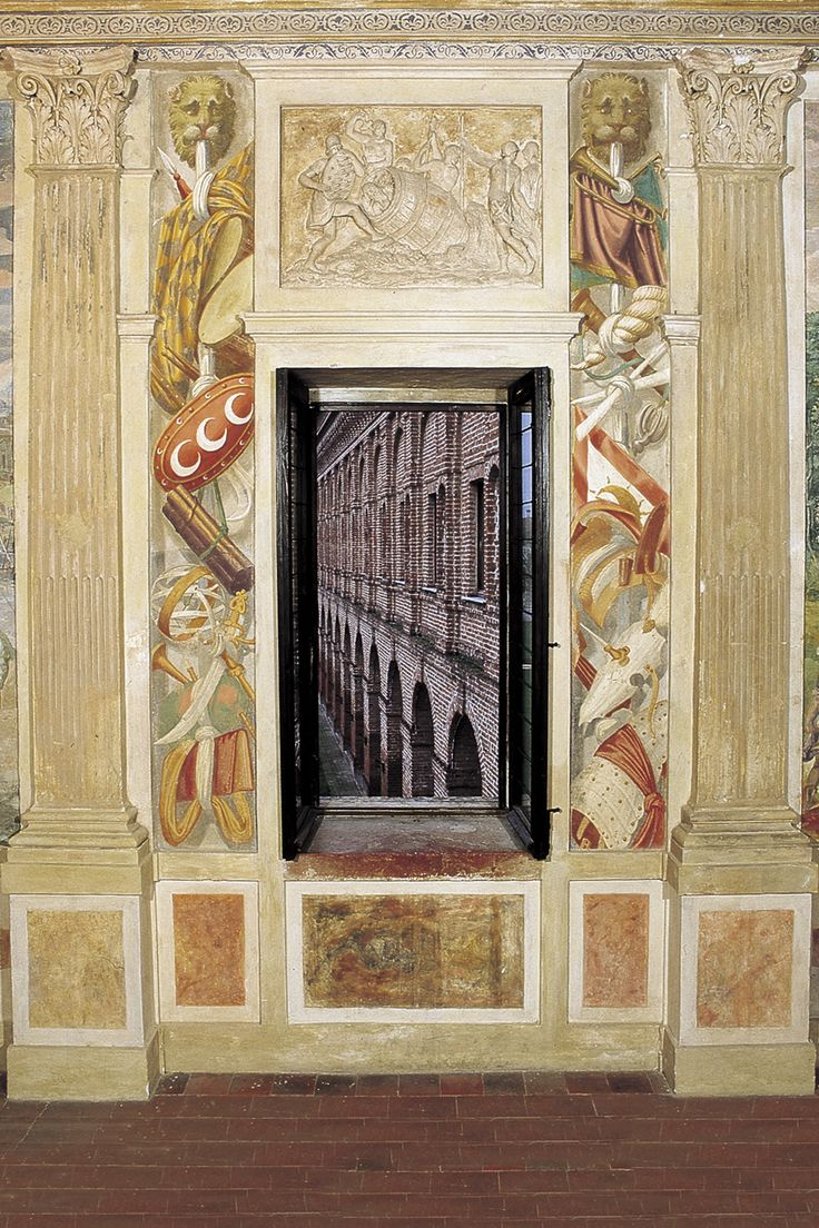 Palazzo Giardino. Bernardino Campi e aiuti, sala degli Specchi, parete lunga verso la galleria - Foto di Fabrizio Buratta e Fausto Valente