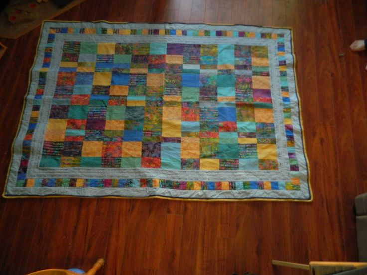"""I made this quilt using a pattern adapted from the book """"Super Simple Strips"""" by Nancy Smith and Linda Milligan."""