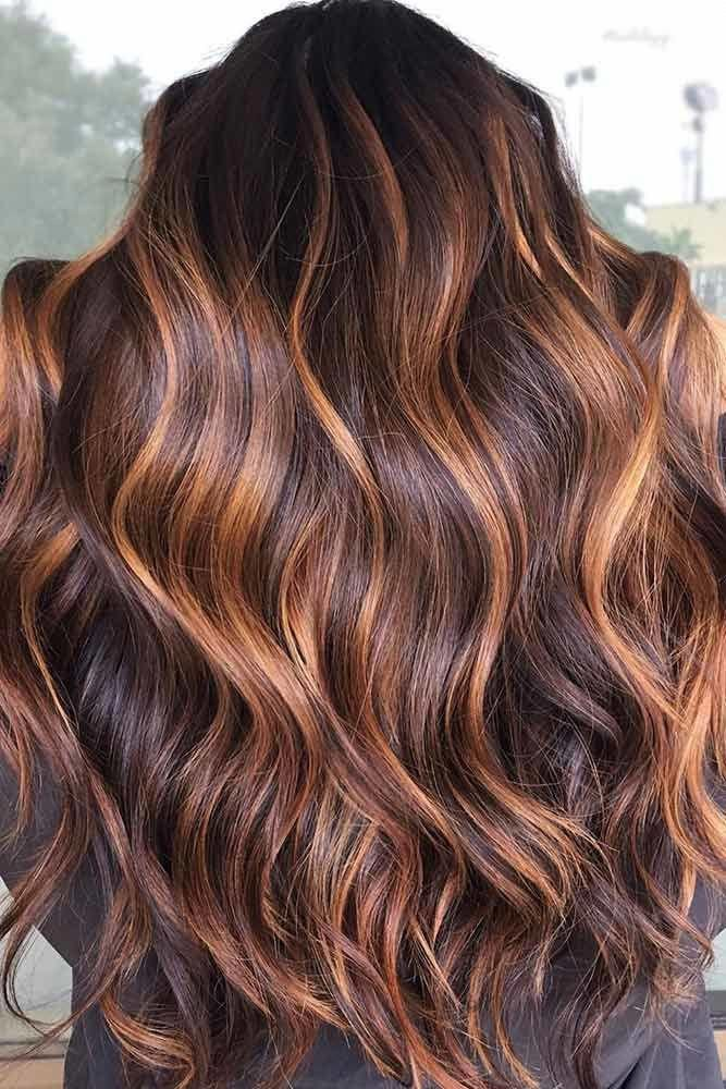35 Refreshing Lowlights Ideas For Dimensional Hair Colors In 2020 Brunette Hair Color Balayage Hair Highlights Brown Hair