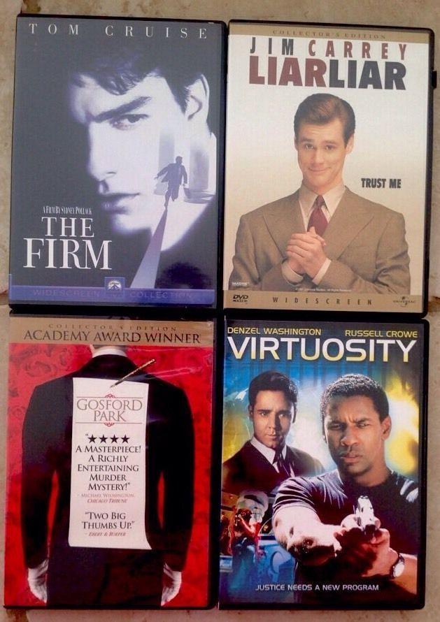 The Firm Widescreen Liar Liar Widescreen Gosford Park Virtuosity 4 DVD Sets