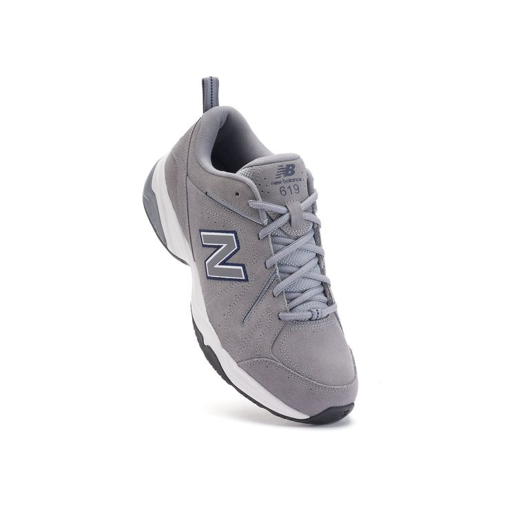New Balance 619 Men's Suede Cross-Training Shoes, Size: 11.5 Ew 4E, Med Grey