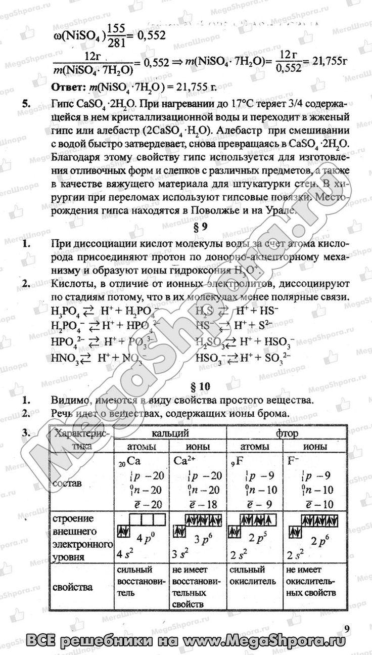 Скачать бесплатно гдз по химии л. кузнецова