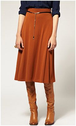 Classy Classic. Watch the hemlines with tall boots traditional length skirts/dresses. Nice color combo!!