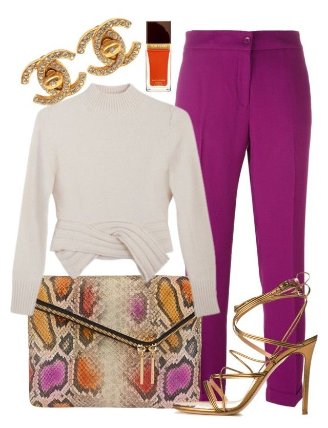 Always Ready To Go by perichaze on Polyvore featuring polyvore moda style Maryam Nassir Zadeh Etro Gianvito Rossi Henri Bendel Chanel Tom Ford fashion clothing