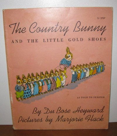 The Country Bunny and the little gold shoes  by ChinaAndOldStuff, $15.00