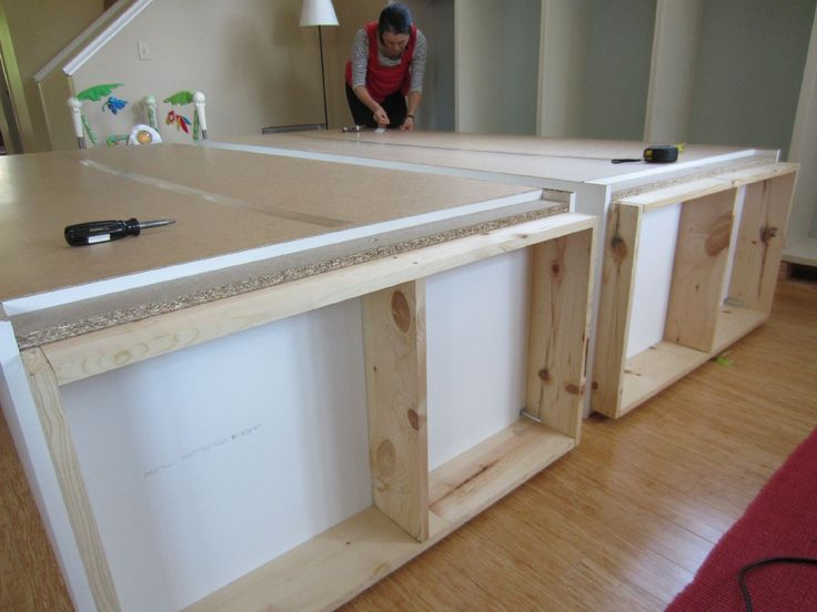 Hack IKEA Besta shelves and Pax wardrobes   how-to baseboard