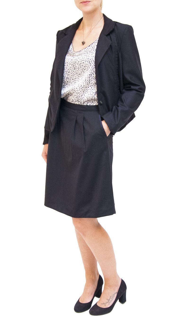 #ByGroth #FW14 #Nanna #Blazer #Naja A-line #skirt and #Nola printed #silk top.