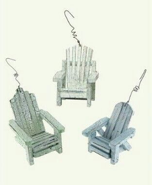 Adirondack Chair Ornaments Set of 3 from Victorian Trading Co.