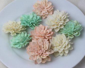 La menta Sola gris marfil flores boda rústica por WoodFlowerFarm