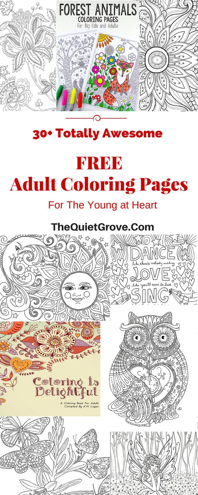 Free coloring pages for young adults - 30 Totally Awesome Free Adult Coloring Pages