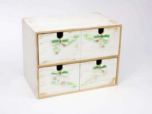 Wyjątkowa drewniana komódka z 4 szufladkami Połomia - image 1