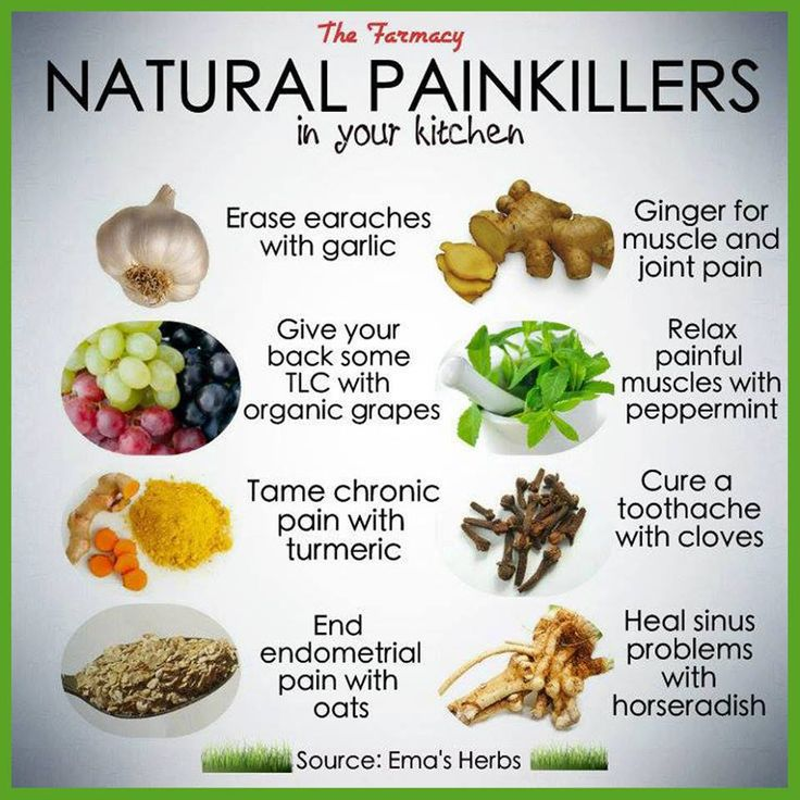 Natural painkillers in your kitchen - ginger for muscle and joint pain, heal sinus problems with horseradish