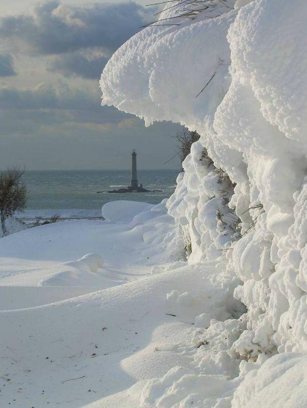 La neige en Normandie
