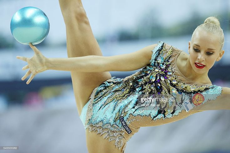 Russian rhythmic gymnast Yana Kudryavtseva performs her ball routine during the Individual All-Around qualification event at the 2016 FIG Rhythmic Gymnastics World Cup, at the Gymnastics Center in Kazan. Yegor Aleyev/TASS