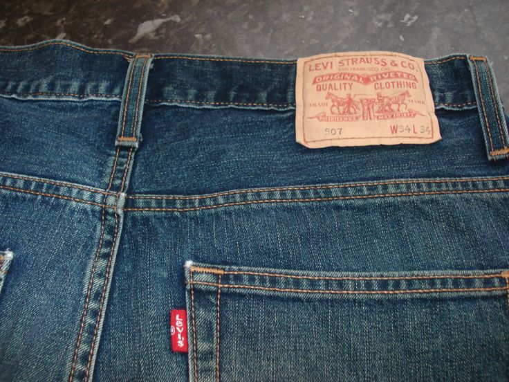 Levis 507 mens blue bootcut jeans size 34W x 34L Red Tab Zip Fly