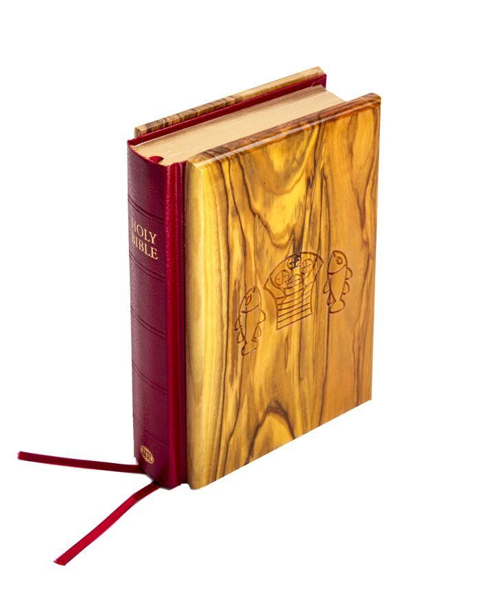 The Holy Bible – King James Version (KJV), Olive Wood and Gold Leaf - #MadeinIsrael #holyland #holylandisrael #ChristianGifts  #Jewish #TheHolyBible #Wood #KingJamesVersion #KJV