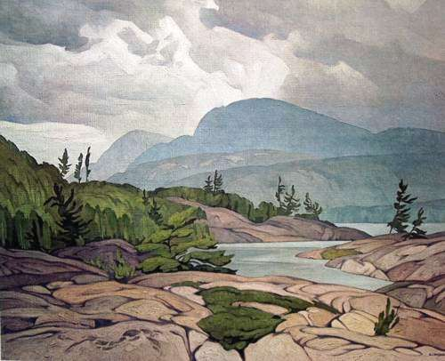 "A.J. Casson ""Cloche Hills"" Canadian (The Group Of Seven: Franklin Carmichael, Lawren Harris, A. Y. Jackson, Frank Johnston, Arthur Lismer, J. E. H. MacDonald, Frederick Varley, and A. J. Casson, Edwin Holgate, LeMoine FitzGerald)"